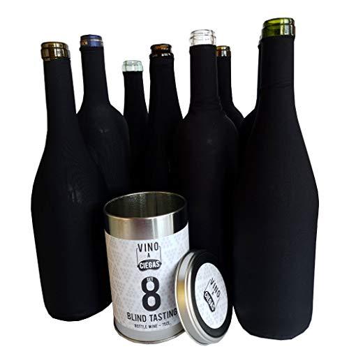 Set 8 da per degustazione Vino alla cieca. Stagno di Metallo. Copribottiglia. Accessori da Vino