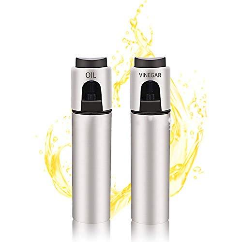 ステンレス鋼燃料噴射ボトル 家庭用調味料ボトル 調味料ボトル 液体噴霧器 食用油噴霧器 スプレー・ボトル 燃料噴射ボトル アルコール、醤油、酢などに最適 100ML*2セット