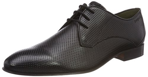 Bugatti 311459021100, Zapatos de Cordones Derby Hombre, Negro (Schwarz), 42 EU