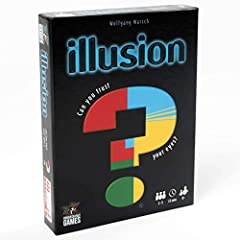 Illusion uses stunning optical illusions to in game play From the designer of the mind From the people behind global hits qwixx, qwinto and the mind Features oodles of fun, colorful and surprising optical illusions