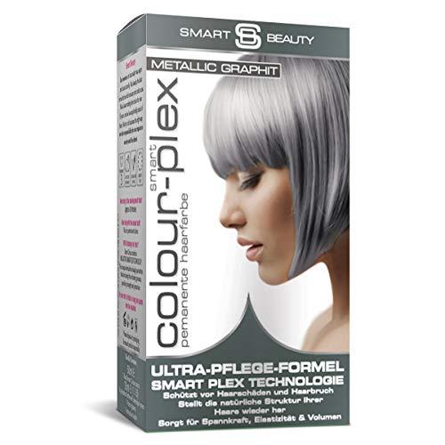 Metallic Graphitgrau demi-permanentes Haarfärbemittel | Professionelle Haarfarbe in Salonqualität | 100% vegane Formulierung ohne Tierversuche | Smart Plex Technologie gegen Haarbruch | Smart Beauty