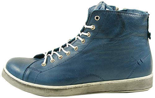 Andrea Conti Damen 0341500 Hohe Sneaker, Blau, 39 EU