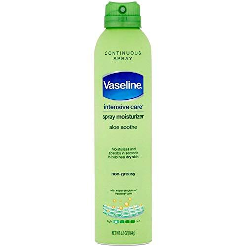 Vaseline Spray & Go Moisturizer, Aloe Fresh, 6.5 oz ( Pack of 6)
