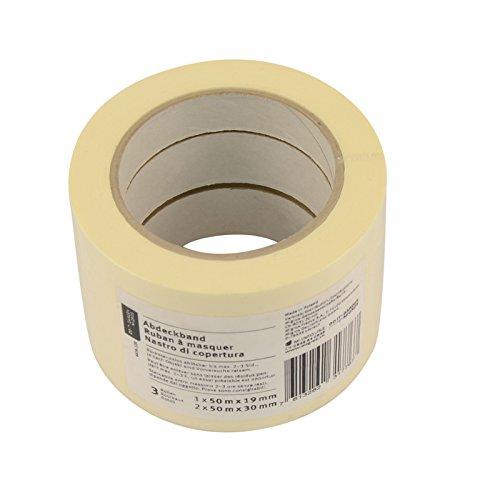 45x Malerkrepp 30mm & 19mm, Abklebeband für Maler Abdeckband Abklebeband für Lackierarbeiten