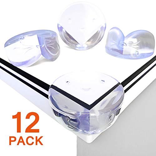 pequeño y compacto [12 Piezas-Grande]Esquina protectora para bebés y niños, correa blanda transparente Canwn…