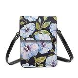 Señoras Crossbody bolsa de teléfono mini bolsos de hombro ramos flores y frutas RFID bloqueo de teléfono celular monedero, color, talla Talla única