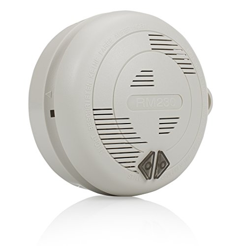 Smartwares Rauchmelder 230V koppelbar mit Backup Batterie RM230, 9 V, White