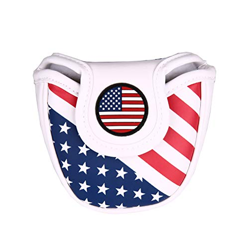 USA Stars and Stripes Magnetic Closure Golf Mallet Putter Head Covers for Odyssey Scotty Cameron...