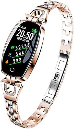 Gymqian Reloj Inteligente para Mujer, Ritmo Cardíaco Presión Arterial Sleep Fitness Tracker Ip67 Agua Pantalla a Prueba de Agua Pulsera Inteligente-B Exclusivo/B