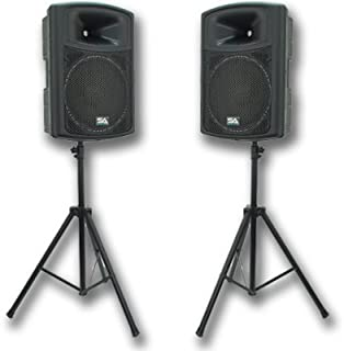 Seismic Audio - PWS-15 (Pair) and Speaker Stands - 15