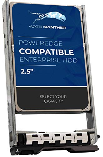 Water Panther 1.2 TB 10K RPM SAS 6Gbps 2.5-Inch Hard Drive Compatible with Dell PowerEdge Servers R620 R630 R710 R730 R930 342-5514 36RH9 T6TWN RMCP3 400-AEFQ 342-5571 Hot-Plug HDD in a SFF 13G Caddy