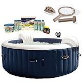 Intex Pure Spa 4-Person Inflatable Hot Tub, Maintenance Kit, & Chemical Kit