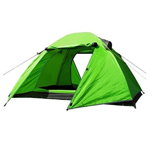 RYP Guo Outdoor Products Voyage de Couple en Plein air, Camping, Tentes d'alpinisme, Tiges de Fibre de Verre Durable, Imperméable à l'eau, Coupe-Vent, Tentes polyvalentes,2 Personnes,Vert