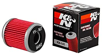 K&N Motorcycle Oil Filter  High Performance Premium Designed to be used with Synthetic or Conventional Oils  Fits Select Yamaha Vehicles KN-141