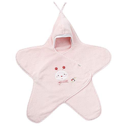 Fehn 068726 Einschlagdecke Biene / Kuschelige Babydecke mit Klettverschluss für Kinderwagen, Babytrage, Autositz, Babybett, für Babys von 0-6 Monaten