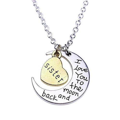N-K PULABO 1 collar de mujer con colgante de corazón de luna para niña, joyería de fiesta, regalo de amor para la familia, excelente calidad y moda popular