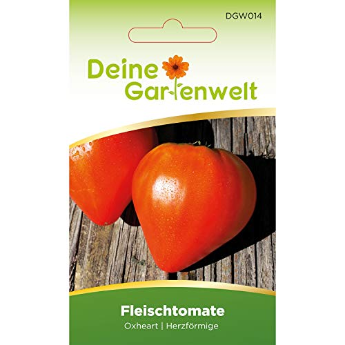 Fleischtomate Oxheart 2 Tomatensamen | Samen für Ochsenherz-Tomaten | Fleischtomatensamen | Saatgut für Ochsenherztomaten