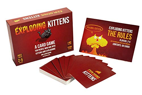 Exploding Kittens Card Game - Family-Friendly Party Games - Card Games for Adults, Teens and Kids