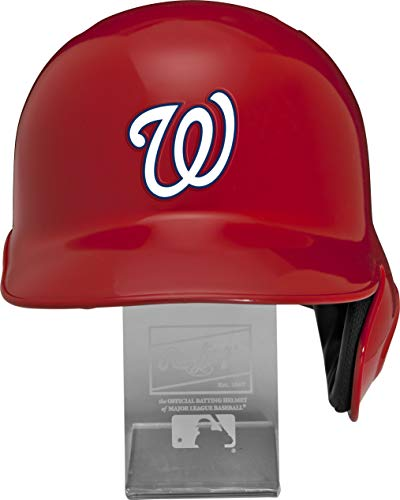 Rawlings MLB Los Angeles Angels Replica Batting Helmet with Engraved Stand, Official Size, Red