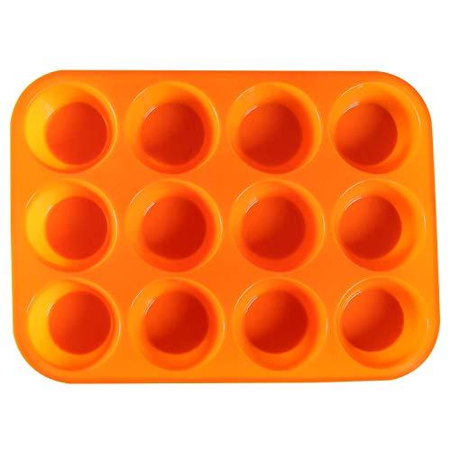 12 Tassen geformte Silikonkuchenform Haushaltsmousse Schokoladenkuchen Backform (ausgehend von zwei Stücken)
