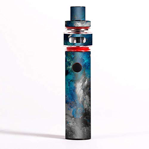 Skin Decal Vinyl Wrap for Smok Pen 22 Starter Light Edition Vape Skins Stickers Cover/Blue Grey Painted Clouds Watercolor