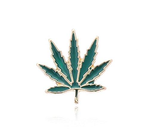 Null Karat Pin Anstecker Hanfblatt Hanf Grass Cannabis schmuckrausch