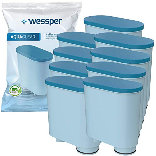 Wessper Filtro Acqua per Macchina Caffè, Filtro Acqua Anticalcare CA6903 Aquaclean Filtro Acqua per Macchina da Caffe Philips e Saeco, 9 Pezzi