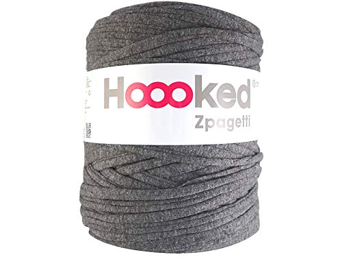 Hoooked Zpagetti T-Shirt-Garn, Baumwolle, 120 m, 700 g, Dunkelgrau