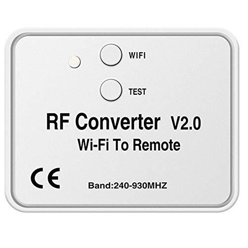 Baalaa Control Remoto Universal del Interruptor de WiFi 433MHz Convertidor de WiFi A RF CóDigo de Balanceo de Frecuencia MúLtiple Control Remoto de Puerta de Garaje