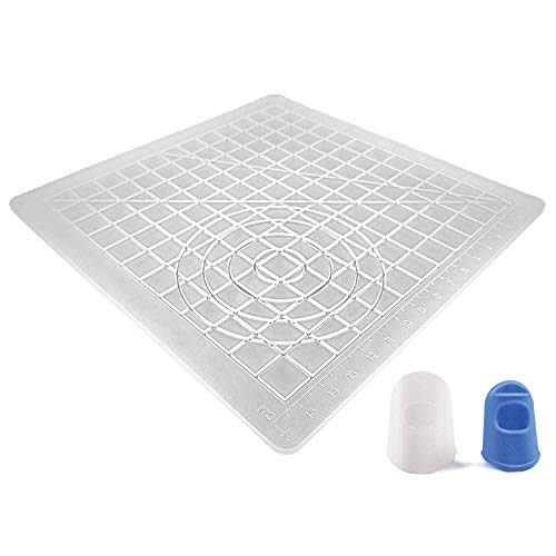 AIO Robotics Silicone Mat for 3D Printing Pen Drawing & Designing Including Two Silicone Finger Caps, Transparent
