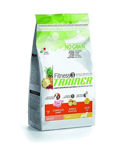 Trainer NovaFoods Cibo per Cani Fitness 3 Adult Mini Rabbit&Pot 7,5KG - 7500 gr