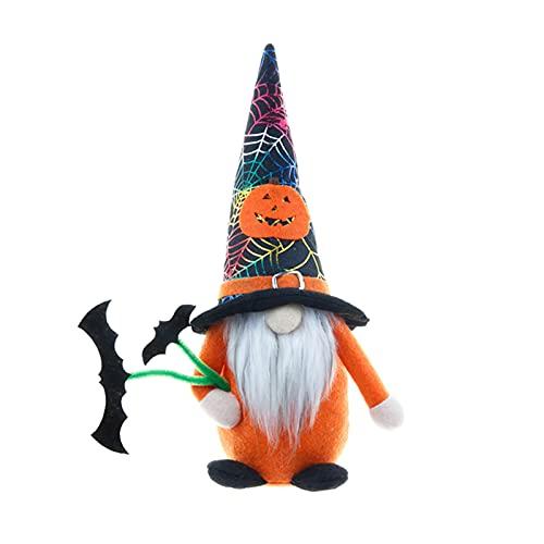 BULABULA Halloween Gnomes Plush Elf 1/2 PCS Pumpkin Bat Stuffed Doll Decor Festival Themed Dwarf for Party Car
