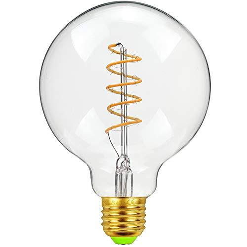 Vintage LED Bombilla, Edison Bombilla G95 Globe 4W Regulable Retro Espiral Filamento...
