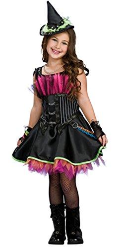 Bigood Costumes Déguisement Cosplay Princesse Sorcière Magique Enfant Fille pour Halloween L