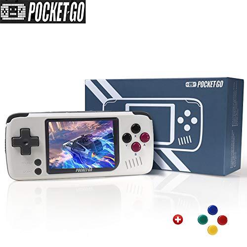 PocketGo、2.4インチIPSスクリーンミニレトロゲームハンドヘルド、外部8GBメモリカードゲームコンソールを備えたオープンソース