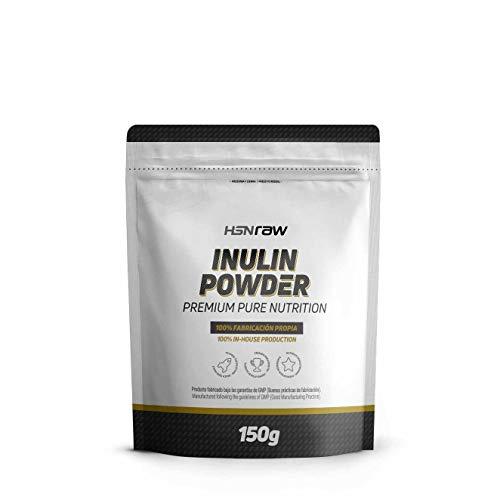 Inulina en Polvo de HSN Raw   Fibra Prebiótica   Limpieza Intestinal, Reducción de Hinchazón, Alivio del estreñimiento   Apto para Veganos, Sin Lactosa, Sin Gluten – Sin Sabor 150g