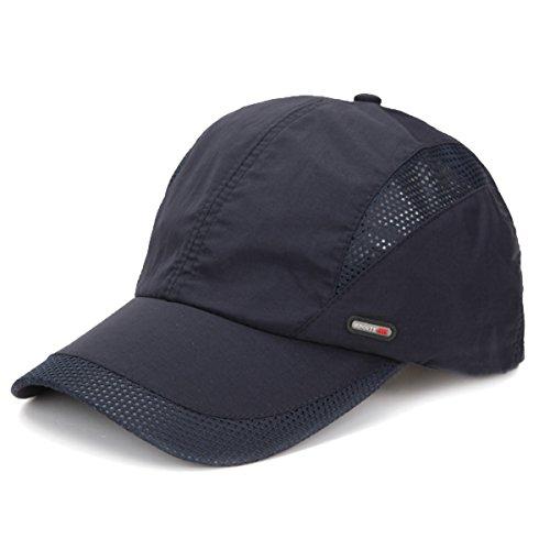 Sporty Sport Running Baseballcap Golf Outdoor Mesh Kappe Mütze Jogging Fitness Cap Laufkappe Schirmmütze Basecap atmungsaktiv verstellbar (Navy)