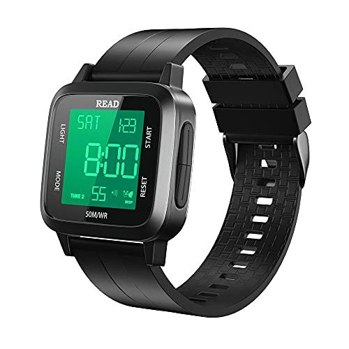 orologio digitale, orologio neutro digitale, cassa metallica, orologio a prova d'acqua 50m con sveglia, cronometro, orologio multifunzionale sportivo con illuminazione di fondo LED, orologio da uomo
