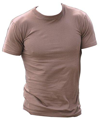 Uni T-Shirt Style US BDU Noir, Vert Olive et Coyote Kaki Marron Coyote xx-large