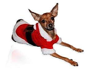 Grivey Manteau de Noël pour Chien Super Doux avec Capuche pour Chien, Chiot et Chat