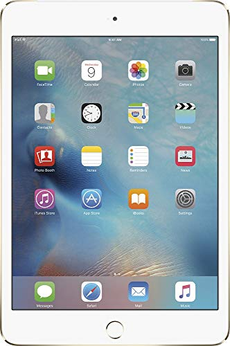 Apple iPad Mini 4, 128GB, Gold - WiFi (Renewed)
