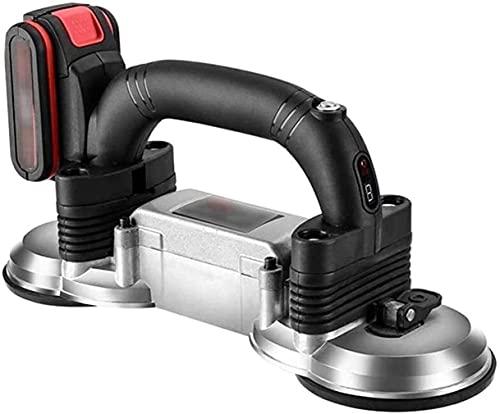 JLTX Máquina vibradora de azulejos de 21 V para colocar baldosas automática, herramienta eléctrica de colocación de pisos, 400 kg de adsorción máxima,...