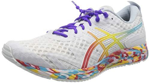 Asics Gel-Noosa Tri 12, Road Running Shoe Mujer, Blanco/Rojo clásico, 37.5 EU