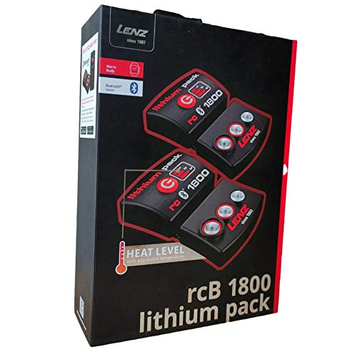 Lenz 1800 del compartimento de las pilas batería de repuesto para botas de esquí para calefacción