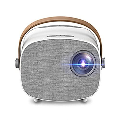 WWDKF Proyector, Proyector LED para Teléfono Móvil Doméstico Portátil HD 1080P, Adecuado para Películas De Video TV, Juegos De Fiesta, Entretenimiento Al Aire Libre