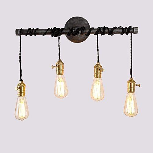 Hines 4 Luces Industriales E27 Edison Bombilla para Colgar Retro Lámpara de...