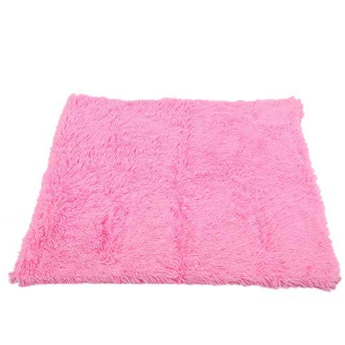 SALUTUYA Cálida y cómoda Alfombra de Cama para Mascotas de otoño Invierno, Perro y Gato Enemigo(Rose Red, L)