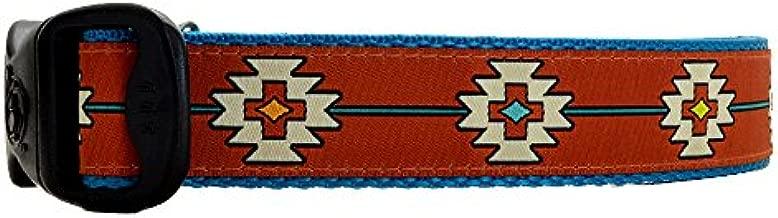 3 Dirty Dawgz Adjustable Western Santa Fe Southwestern Dog Collars for Medium Large and X-large Dogs