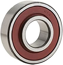 NTN Bearing 87502/2AS Single Row Radial Ball Bearing, Shell Alvania #2 Grease, 15 mm Bore ID, 35 mm OD, 12.7 mm Width, Single Shield and Seal