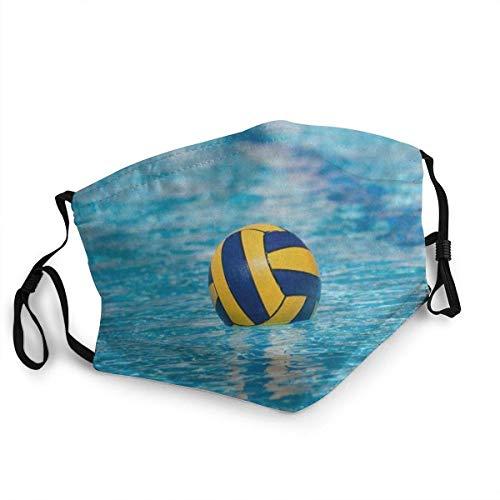 TABUE Mundschutz Gesichtsschutz Wasser Polo Sturmhaube Gesichtsschal Mundschal Wiederverwendbarer Staubschutz mit 2 Filtern